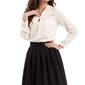 Czarna spódnica midi z plisowaniami
