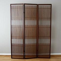 Parawan drewniany 3-skrzydłowy brązowy, styl hiszpański