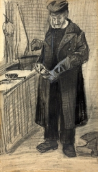 Man polishing a boot, vincent van gogh - plakat wymiar do wyboru: 40x50 cm