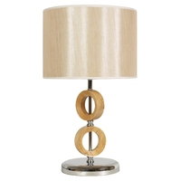Dekoracyjna lampka gabinetowa, beżowy klosz anello candellux 41-01108