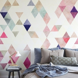 Triangle sunrise - tapeta na ścianę , rodzaj - tapeta flizelinowa laminowana