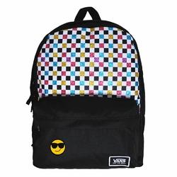 Plecak szkolny Vans Glitter Check Realm - VN0A48HGUX9 - Custom Cool Smile - Custom Cool Smile