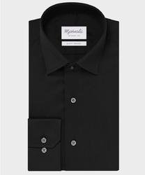 Elegancka czarna koszula michaelis z kołnierzem klasycznym 43