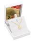Złoty wisiorek koniczynka łańcuszek prezent urodziny rocznica walentynki grawer