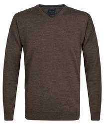 Elegancki jasnobrązowy sweter prufuomo z delikatnej wełny merynosów s