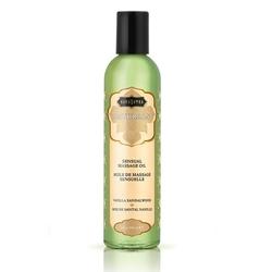 Lekki olejek do masażu i nawilżania - kama sutra naturals massage oil wanilia i drzewo sandałowe - 236gram