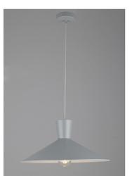Lampa wisząca elista szary - szary