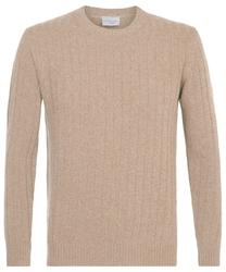 Elegancki beżowy sweter wełniany xxl