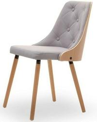 Krzesło pikowane do jadalni alicia szare