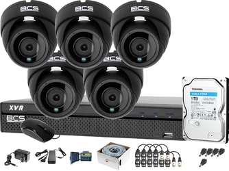 5x bcs-dmq2203ir3-g bcs-xvr0801-iii monitoring firmy sklepu przedszkola szkoły