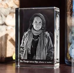 Zdjęcie grawerowane wewnątrz szkła • fotokryształ