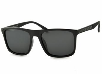 Męskie okulary nerdy polaryzacyjne czarne pol-765