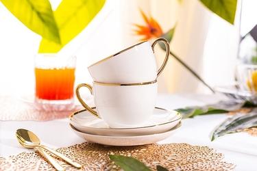 Filiżanki do kawy i herbaty porcelanowe ze spodkami altom design paradise, zestaw 2 filiżanek