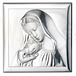 Ryngraf z powłoką srebra matka boska z dzieciątkiem svl8003l - ok. 8 cm  ok. 8 cm