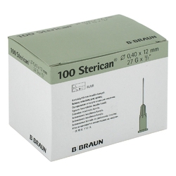 Sterican ins.einm.kan.27gx12 0,40x12 mm