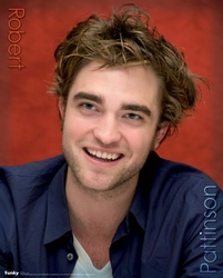 Robert Pattinson w czerwieni - plakat