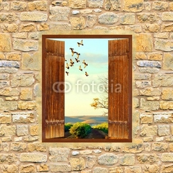 Tapeta ścienna okno