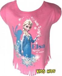 Koszulka frozen elsa queen and snow różowa 8 lat
