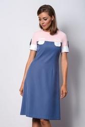 Niebieska elegancka sukienka wizytowa elin