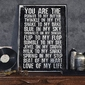 You are the peanut to my butter - plakat typograficzny , wymiary - 70cm x 100cm, ramka - czarna