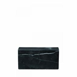 Świecznik marmurowy bloc, czarny