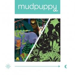 Mudpuppy puzzle rodzinne świecące w ciemności dżungla 500 elementów 8+