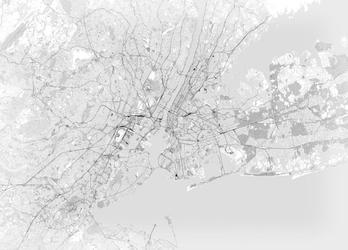Nowy jork - mapa czarno biała - fototapeta