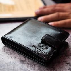 Skórzany portfel męski paolo peruzzi ga182 czarny - czarny