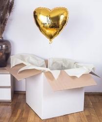Balon z helem w pudełku na 18 urodziny - happy birthday