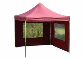 Namiot ogrodowy 3x3 m ekspresowy , bordowy pawilon handlowy ze ściankami