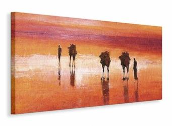 Camels, Chalbi Desert, Kenya - Obraz na płótnie