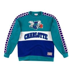 Bluza mitchell  ness leading scorer fleece crew charlotte hornets - fcnkdf18025-chohrbl - charlotte hornets