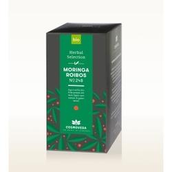 Bio herbata moringa  rooibos 20 saszetek x 1,8g cosmoveda