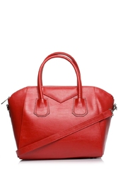 Czerwona stylowa torebka na rączkach