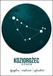 Znak zodiaku, koziorożec - plakat wymiar do wyboru: 20x30 cm