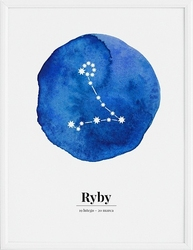 Plakat zodiak ryby 21 x 30 cm