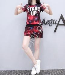 Zestaw sportowy czerwono czarny stand up