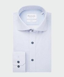Stylowa biała koszula michaelis w gęsty kwiecisty wzór 37