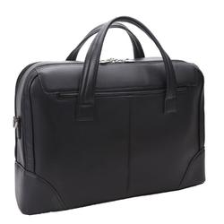 Skórzana męska torba na laptopa mcklein harpswell 88565 czarna - czarny