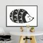 Scandi hedgehog - plakat dla dzieci , wymiary - 18cm x 24cm, kolor ramki - czarny