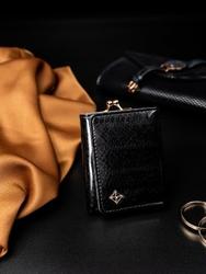 Portmonetka damska na bigiel czarna milano design - czarny