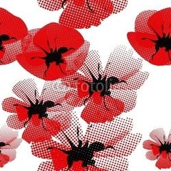 Obraz na płótnie canvas kwiatowy wzór z makiem