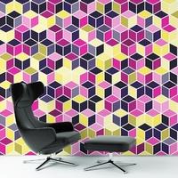 Abstract cubes - tapeta ścienna , rodzaj - tapeta flizelinowa