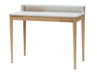 Nowoczesne biurko ashme ze schowkiem i szufladą 110 cm