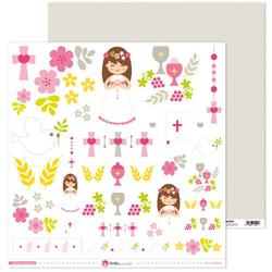 Papier I Komunia Św. dziewczynka - elementy - 01