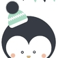 Pingwinek białe tło - plakat wymiar do wyboru: 29,7x42 cm