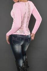 Sweter z koronka na plecach i cyrkoniami 044