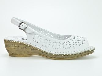 Sandały loretta l05263-18 białe
