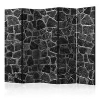 Parawan 5-częściowy - czarne kamienie ii parawan