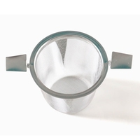 Metalowy zaparzacz sitko z uchwytami - idealny do parzenia herbaty, ziół, wielokrotnego użytku